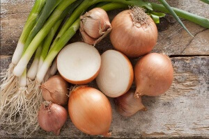 best foods for an alkaline diet - assorted farm fresh onions