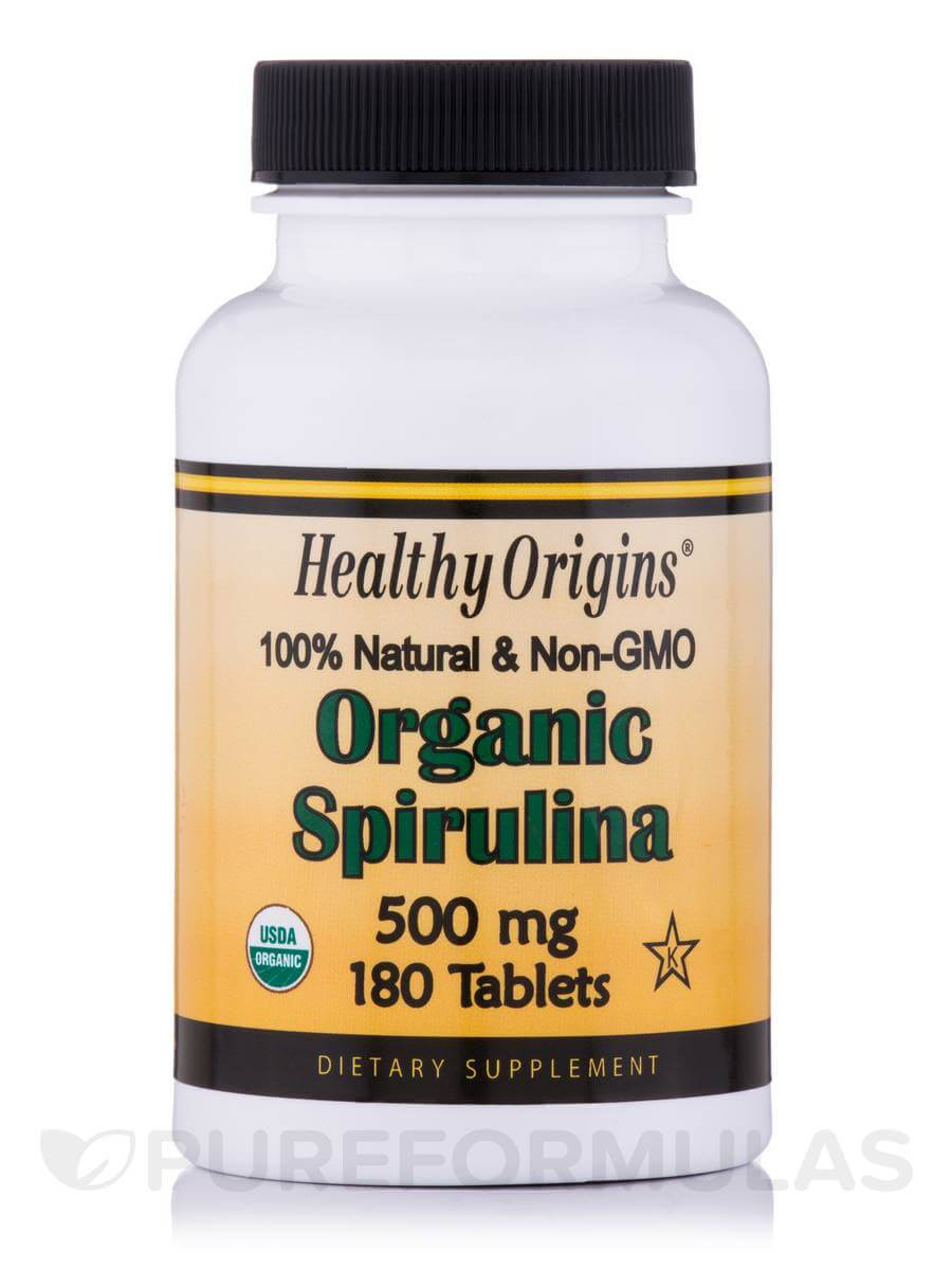 Organic Spirulina Tablets by Healthy Origins