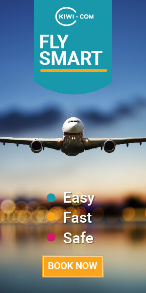 Kiwi.com, FLY SMART, Easy, Fast, Safe, Book Now
