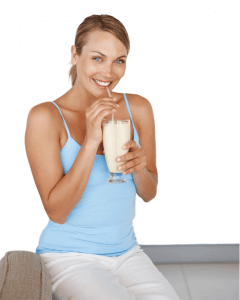 Weight loss - Woman with shake